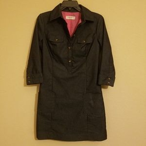 Isaac Mizrahi dark jean dress size small NWOT
